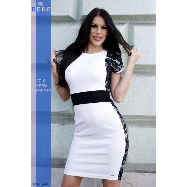 ruha 3716 krém-fekete