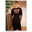 ruha 7051 fekete nyomott