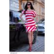 8233 Bella ruha piros-fehér