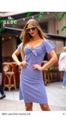 ruha 8681 s.kék-fehér kockás