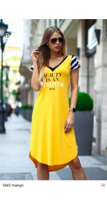 ruha 5665 mangó-fekete