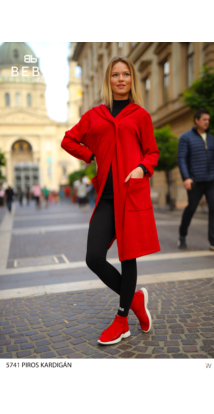 Cintia kardigán  piros
