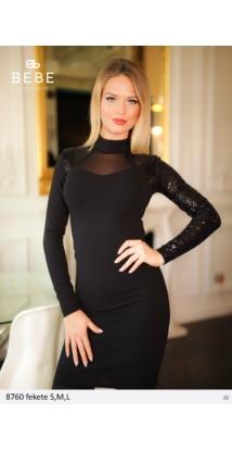 Flitteres ruha 8760 fekete