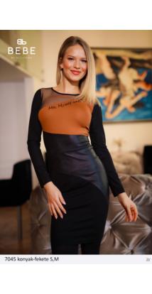 ruha 7045 konyak-fekete