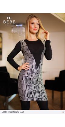 ruha 7047 ezüst-fekete