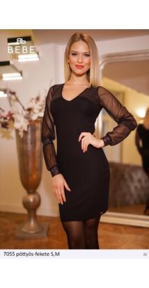ruha 7055 pöttyös-fekete