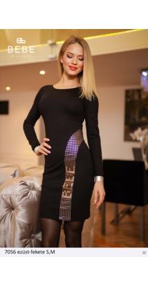 ruha 7056 ezüst-fekete
