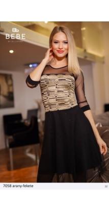 ruha 7058 arany-fekete