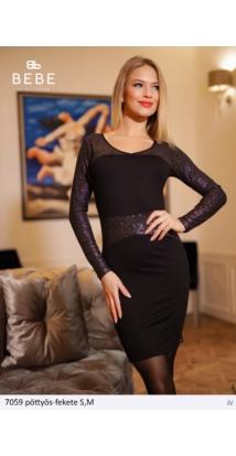 ruha 7059 pöttyös-fekete