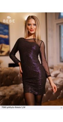 ruha 7060 pöttyös-fekete