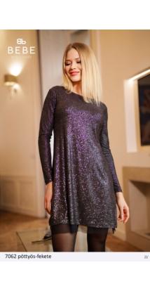 ruha 7062 pöttyös-fekete