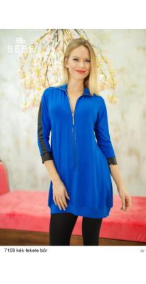 ruha 7109 Merilin kék-fekete bőr