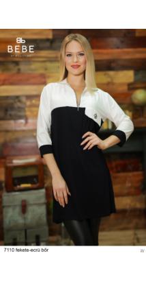 ruha 7110 Zorka fekete-ecrü bőr