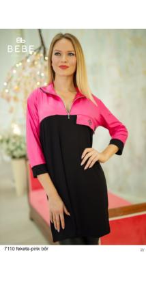 ruha 7110 Zorka fekete-pink bőr