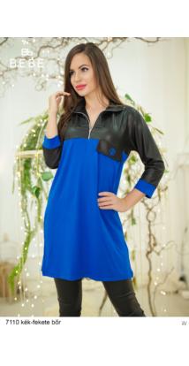 ruha 7110 Zorka kék-fekete bőr