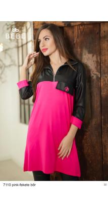 ruha 7110 Zorka pink-fekete bőr