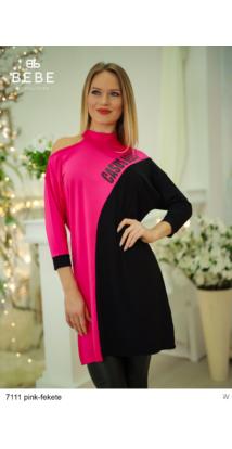ruha 7111 Rebeka pink-fekete