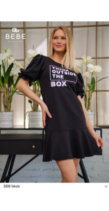 5806 Nina ruha fekete
