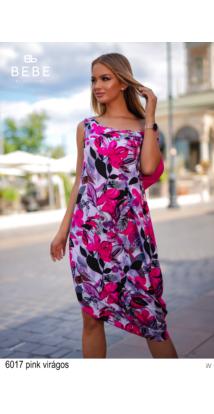 6017 Xénia ruha pink virágos