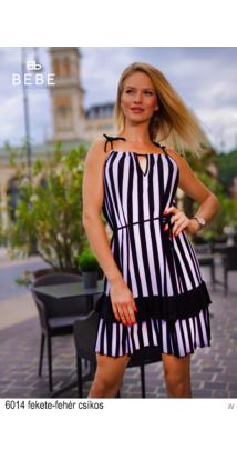 6014 Lory ruha fekete-fehér csíkos