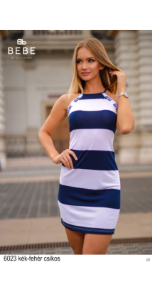 6023 Chilli ruha kék-fehér csíkos