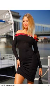 5828 Zoé ruha fekete-piros