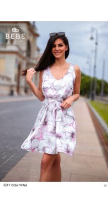 8241 Léna ruha rózsa mintás