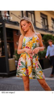 8252 Pamela ruha sötét zöld virágos