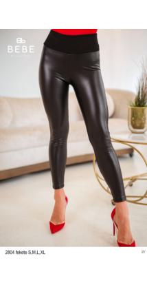2804 Claudia bőrnadrág fekete