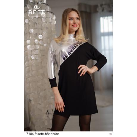 7104 Ocela tunika fekete-bőr ezüst