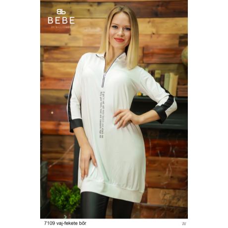 ruha 7109 Merilin vaj-fekete bőr