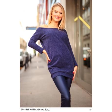 5844 Szabina kötött ruha kék