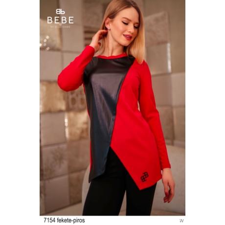 7154 Bianka tunika fekete-piros