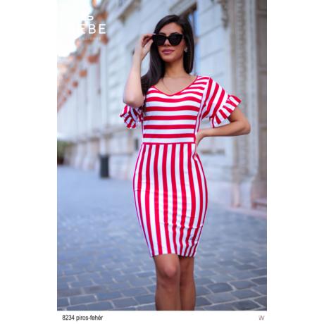 8234 Franciska ruha piros-fehér