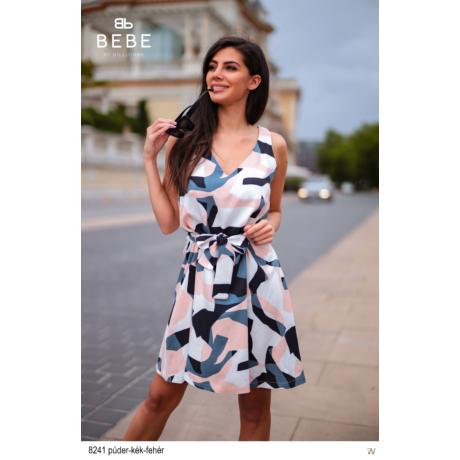 8241 Léna ruha púder-kék-fehér