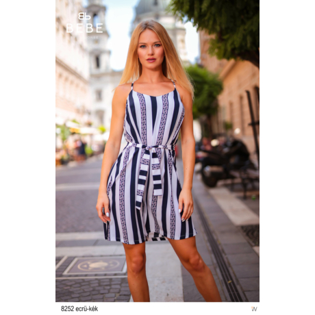 8252 Pamela ruha ecrü-kék