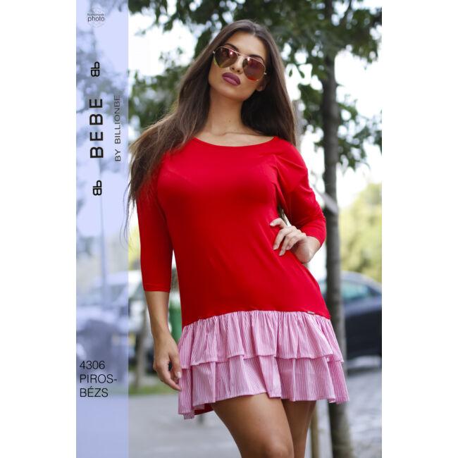 ruha 4306 piros-bézs