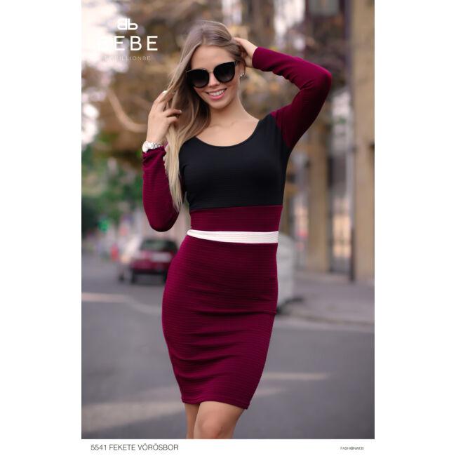 ruha 5541 fekete-vörösbor