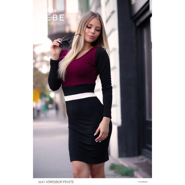 ruha 5541 vörösbor-fekete
