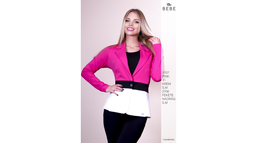 40755b01a5 zakó 3707 pink-f-krém - Ruha webáruház, női ruházat - Likefashion